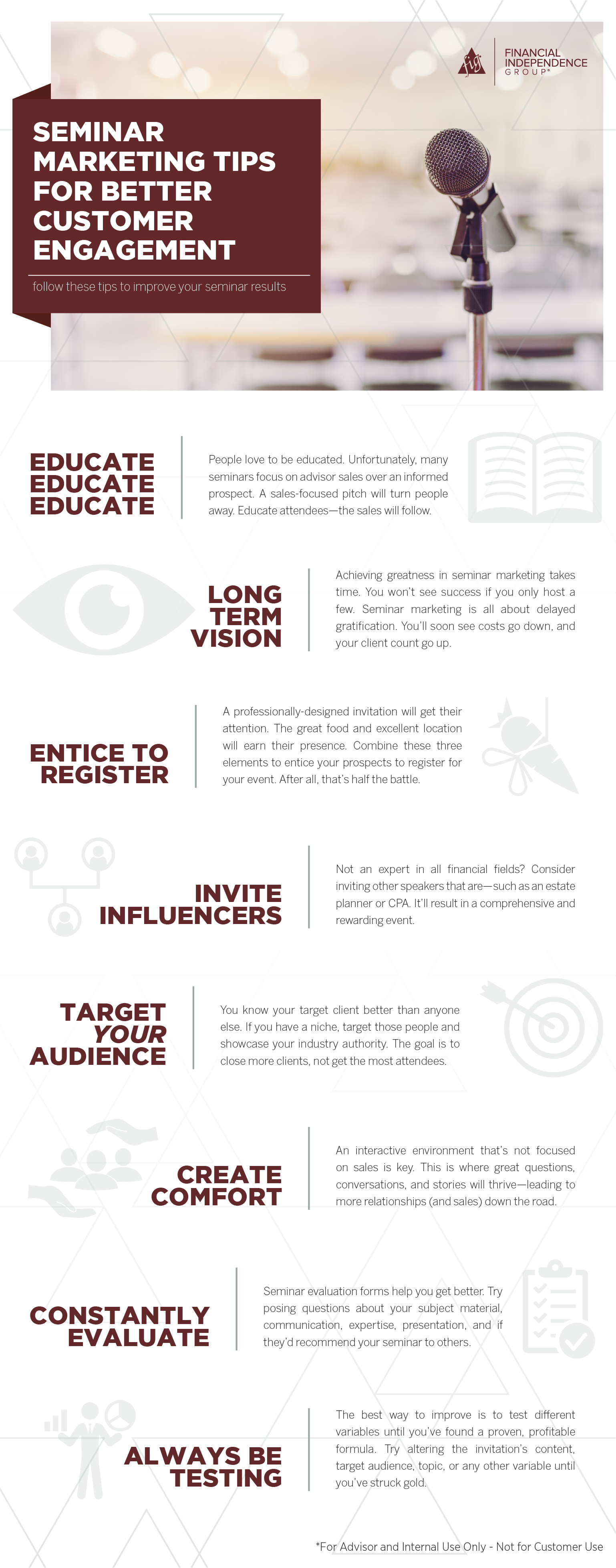 seminar marketing tips for best customner engagement