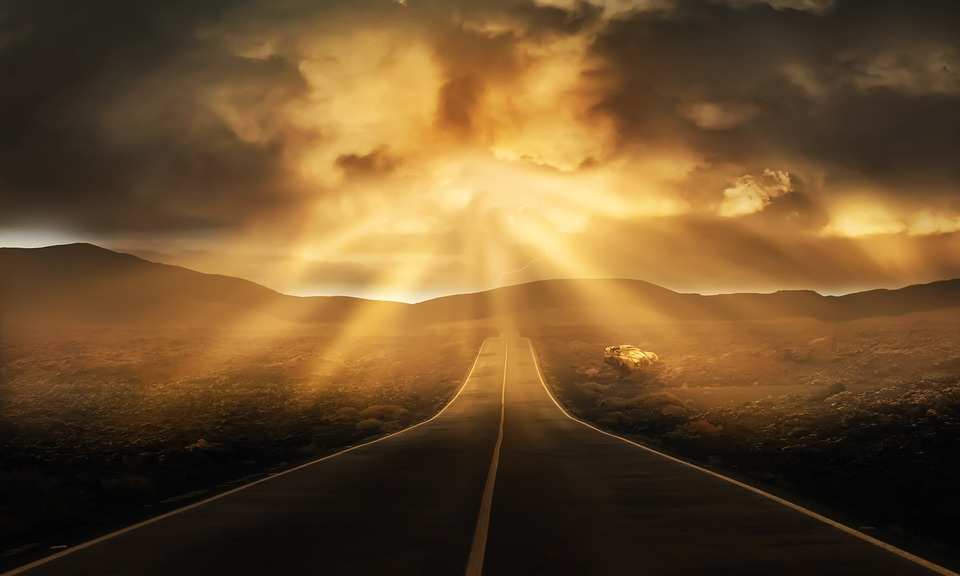 Photo of road going into the distant horizon