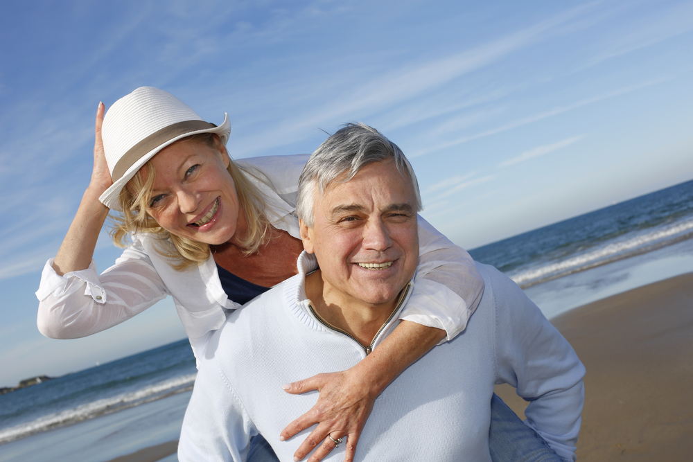 senior couple happy about annuities