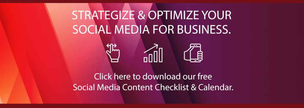 social media content checklist and calendar blog call to action - fig marketing
