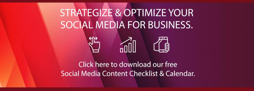 social media content checklist and calendar blog call to action - fig marketing