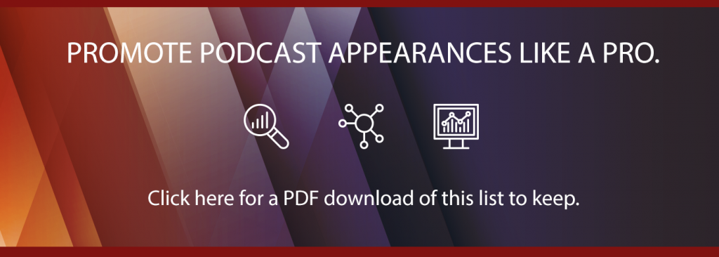 how to promote a podcast apperance blog call to action