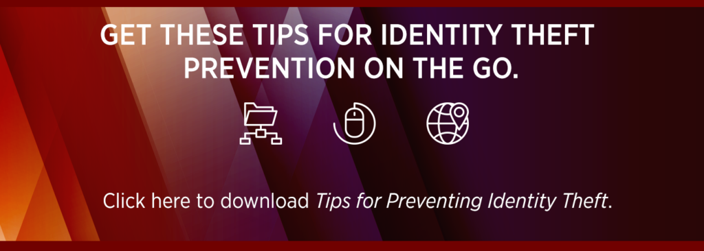 how to prevent identity theft cta button