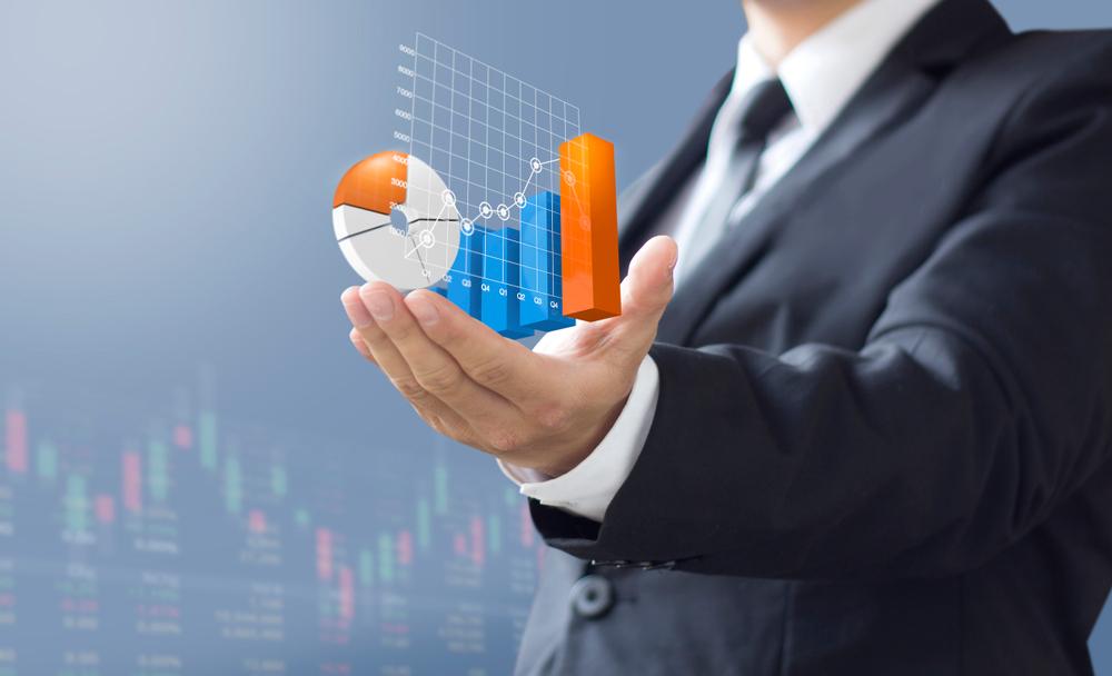 independent financial advisor holding created image of market returns