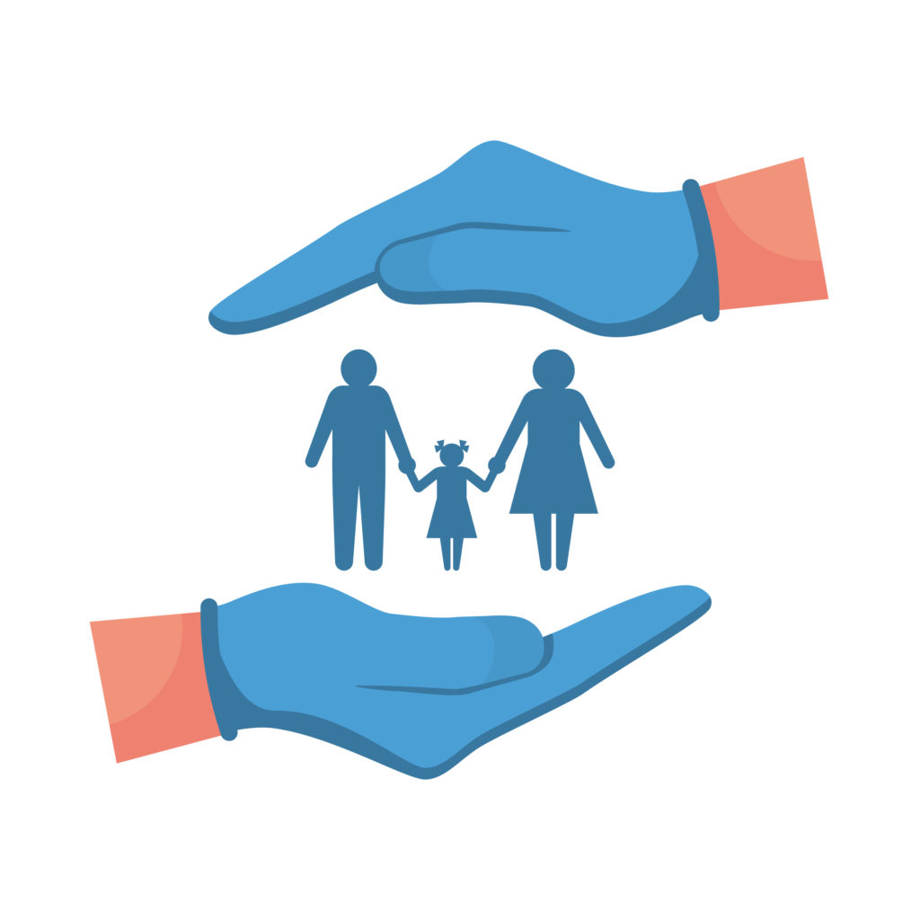 hands cupping a family life insurance gul vs iul blog post