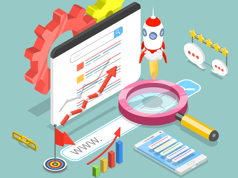 vector graphic of SEO ranking components